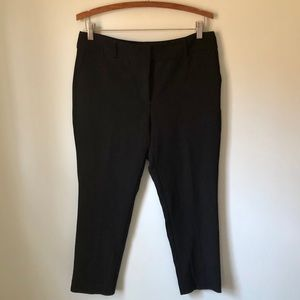 Ann Taylor Black Straight Dress Pants 8 Petite